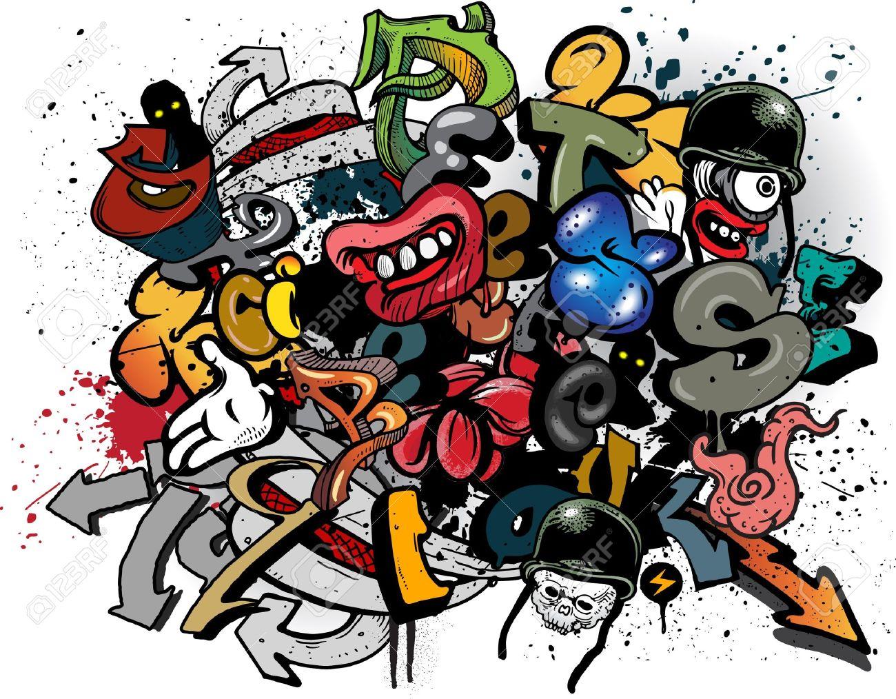 Graffiti elements explosion Stock Vector - 10637136
