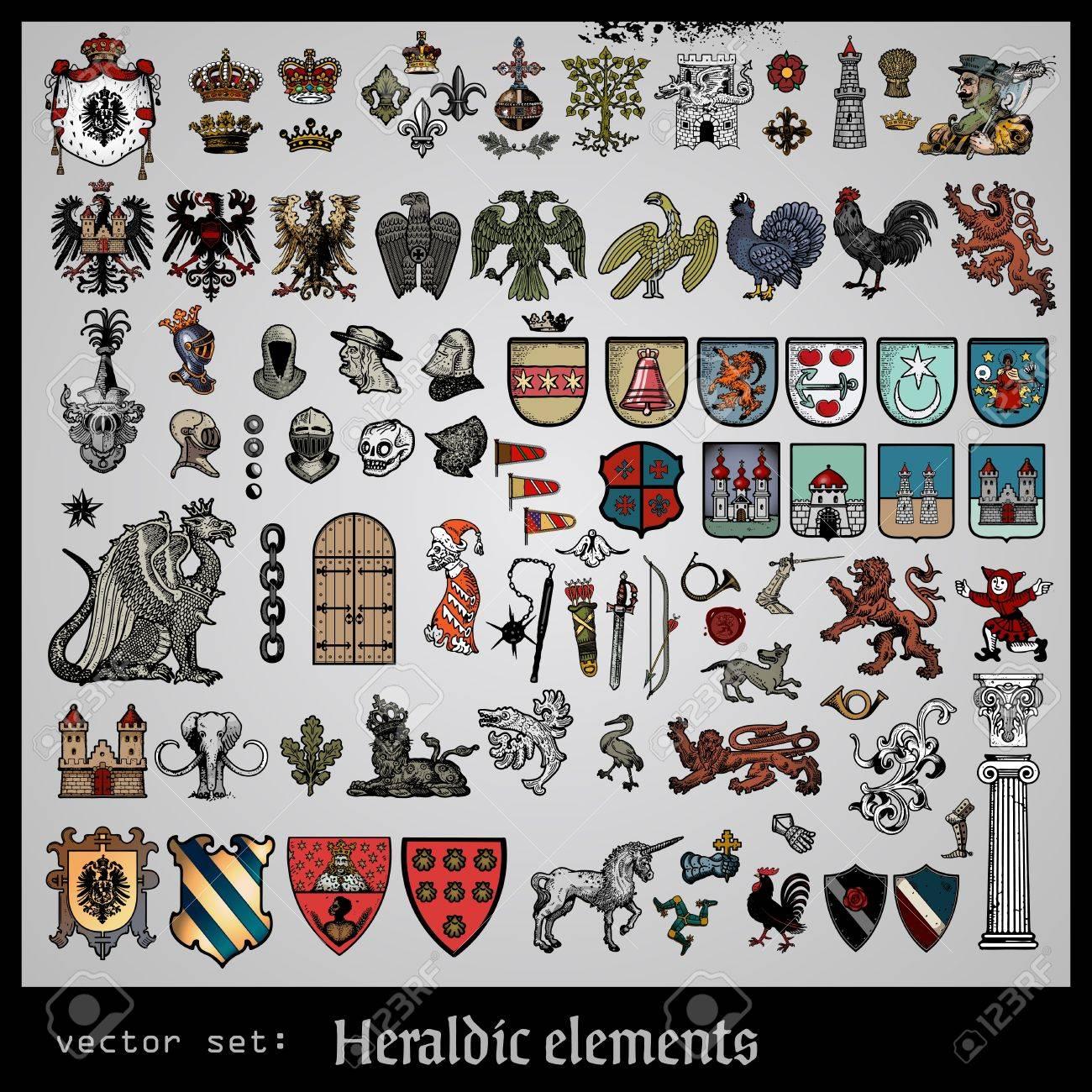 heraldic elements Stock Vector - 17571652