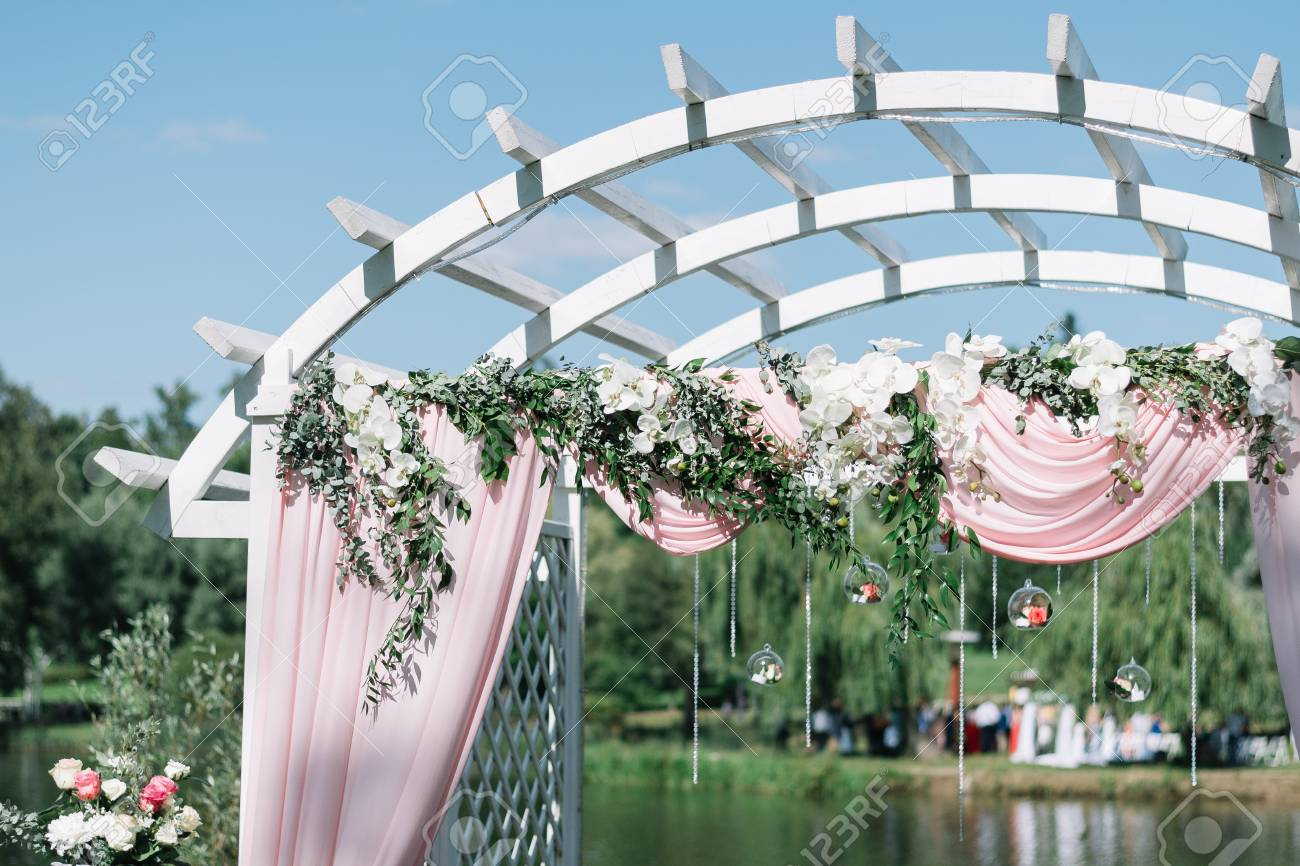 Beautiful Decoration For Summer Wedding Ceremony Outdoors. Wedding ...