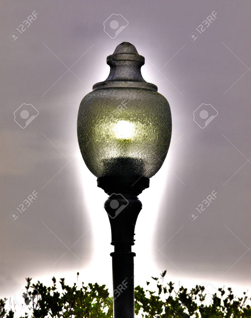 Surreal HDR photo of a vertical lampost Stock Photo - 10526460