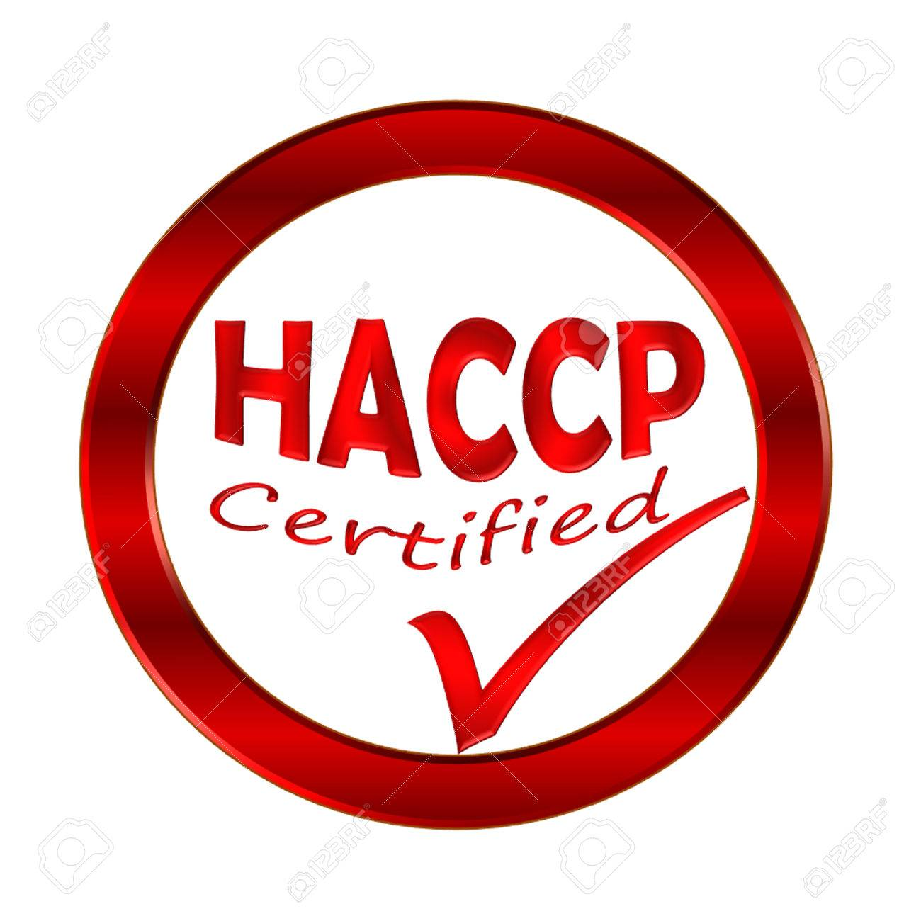 Haccp Certified Logo Or Symbol Image Concept Design On White Stock