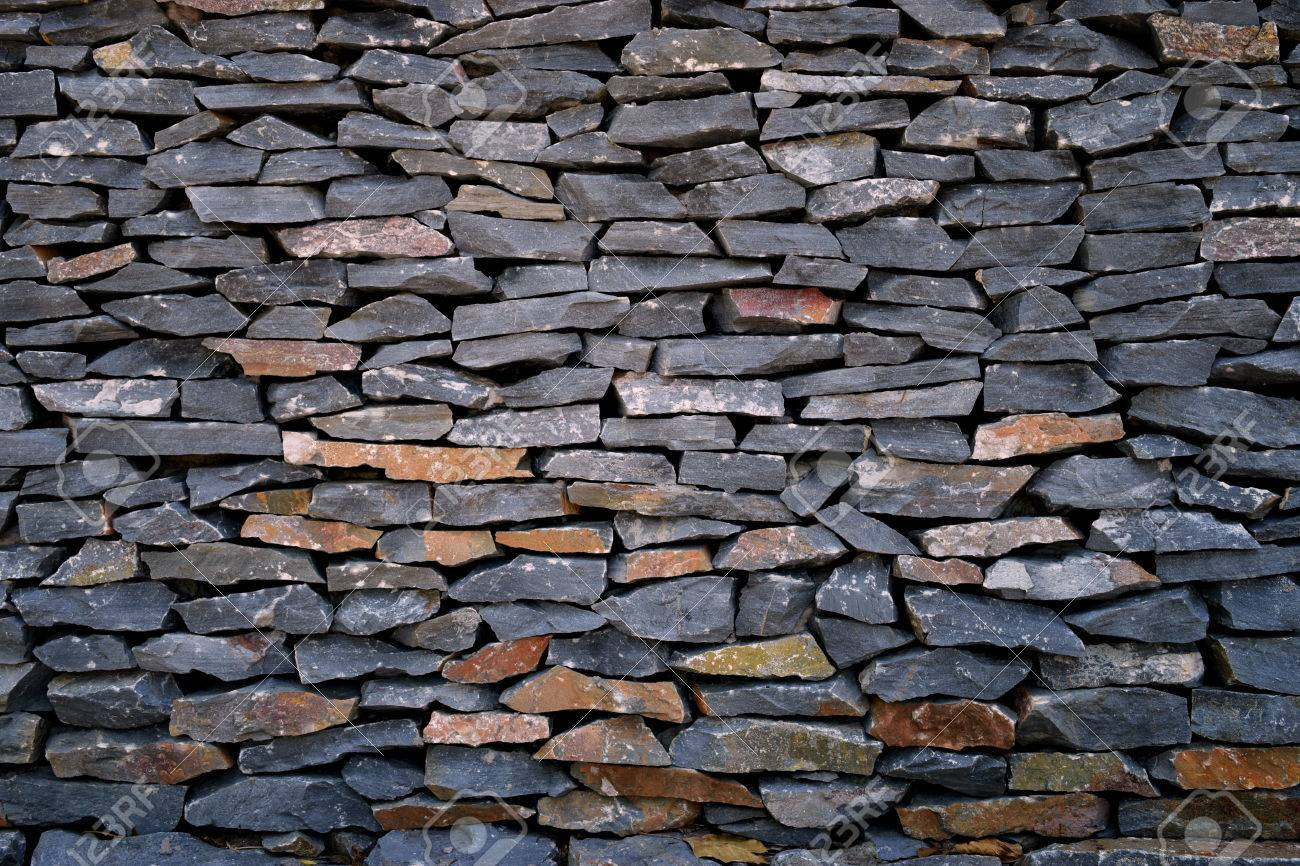 Dark Stone Walls For Wallpaper Stock Photo