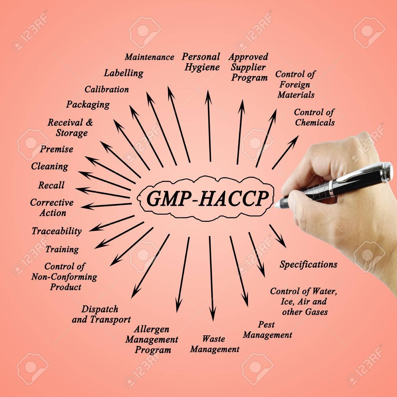 Frauen Hand Schreibelement GMP HACCP Für Die Verwendung In Der ...