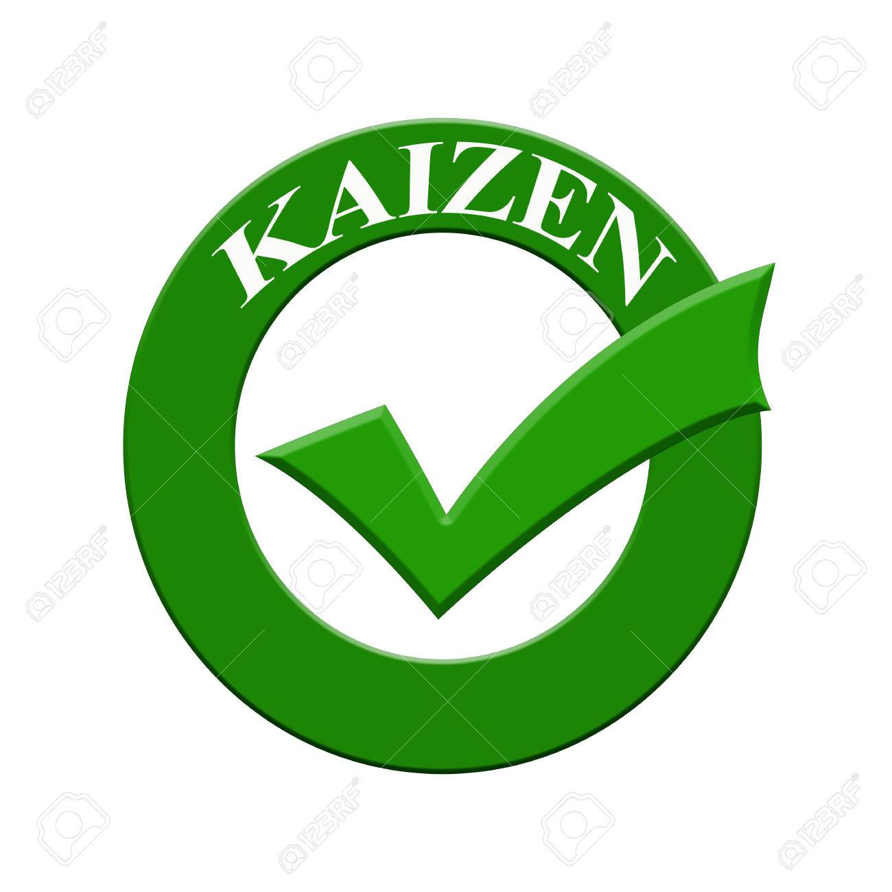 kaizen icon or symbol image concept design with business women