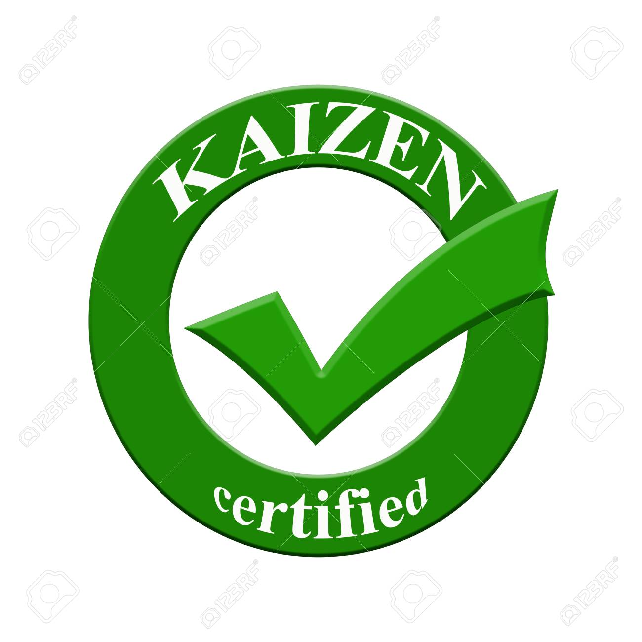 KAIZEN Certified Icon Or Symbol Image Concept Design With Business ...