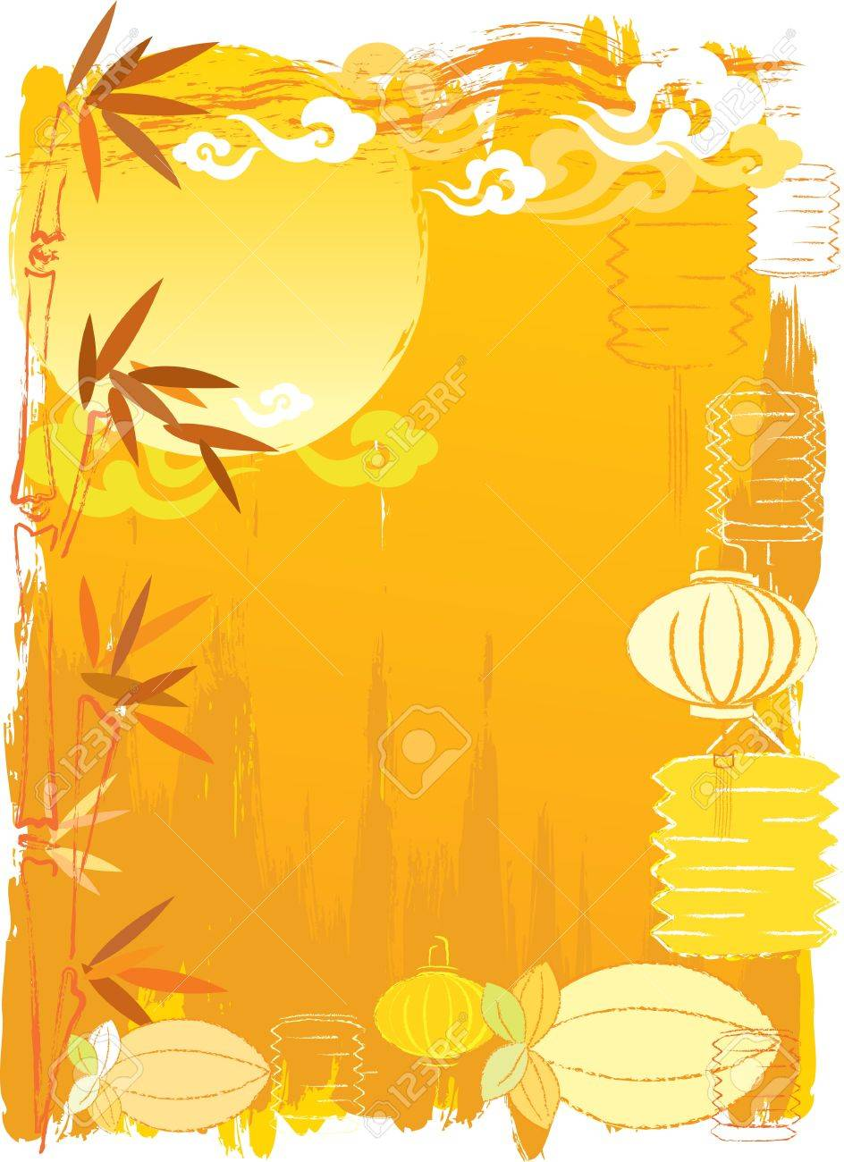 Chinese New Year Day or Mid autumn festival abstract background Stock Vector - 11613764