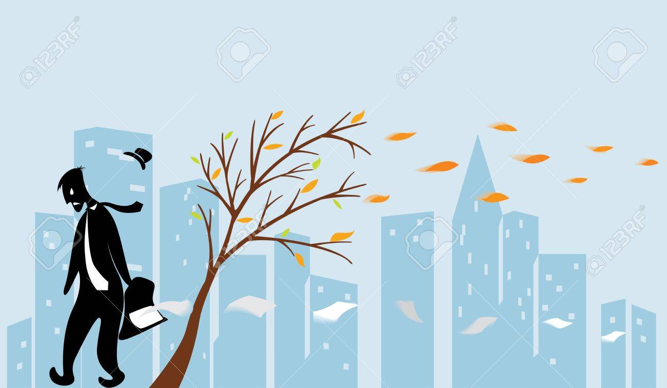 Jobless guy walking behalf sad and lonely city Stock Vector - 14207983