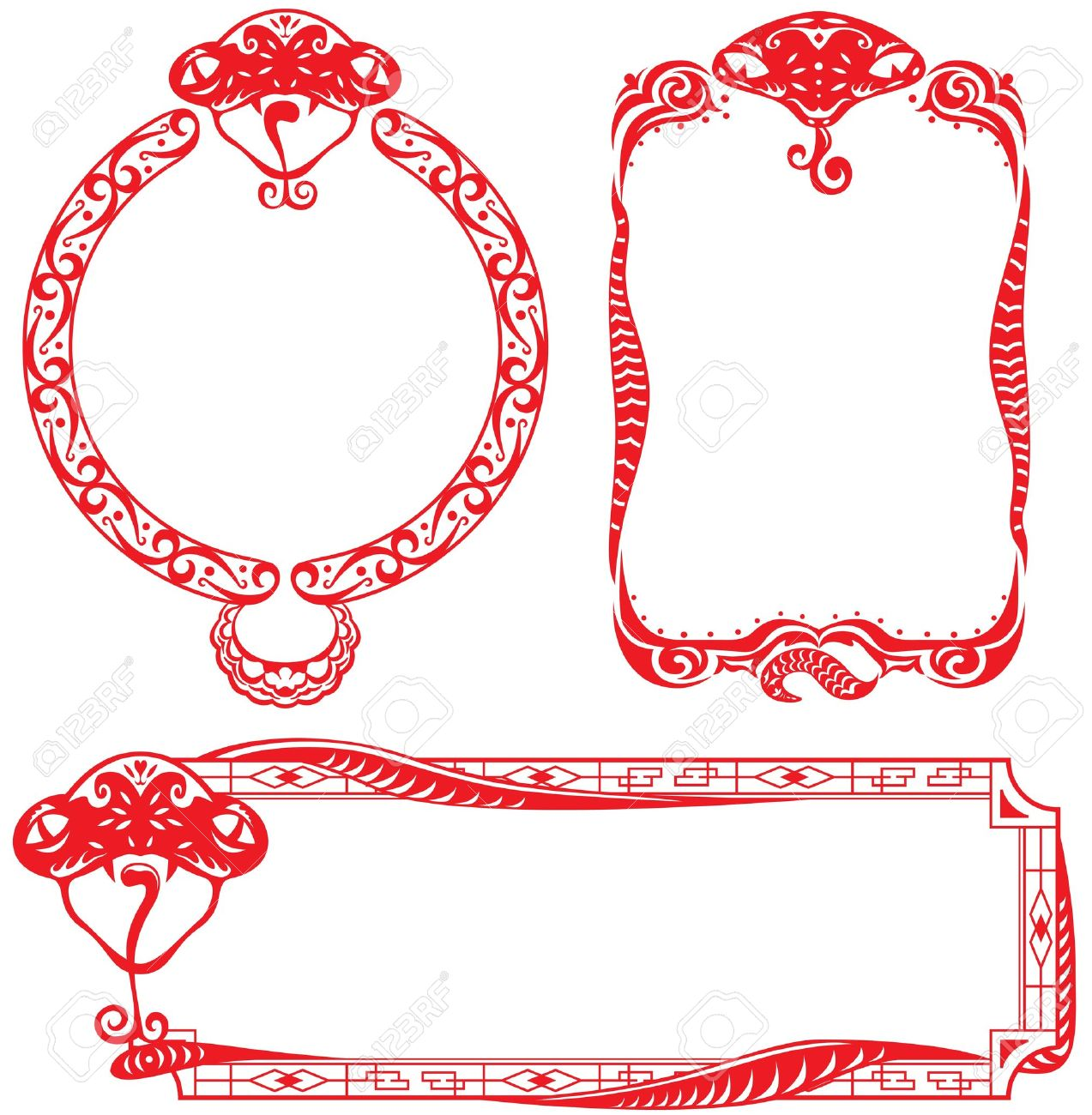 chinese new year border clip art
