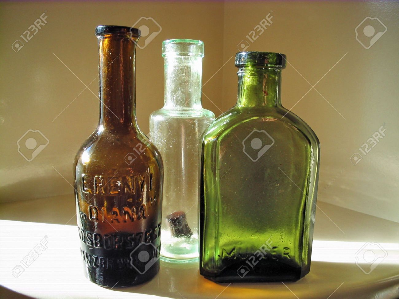 Old Medicine bottles Stock Photo - 2450542