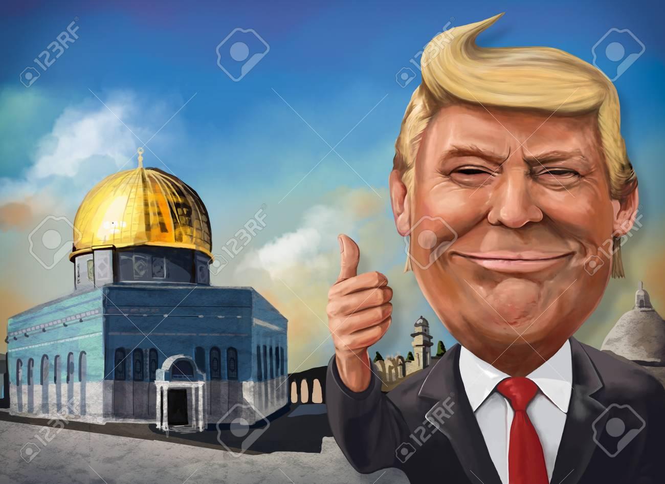 17 De Dezembro Desenho Animado Tematico De Jerusalem De Donald