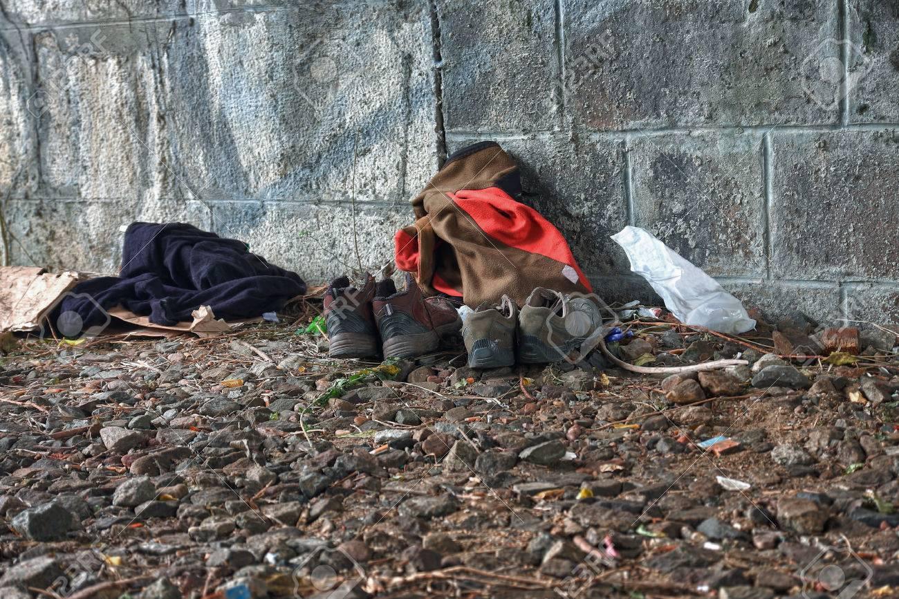 Under bridge,place where live homeless,hdr photo - 34909400