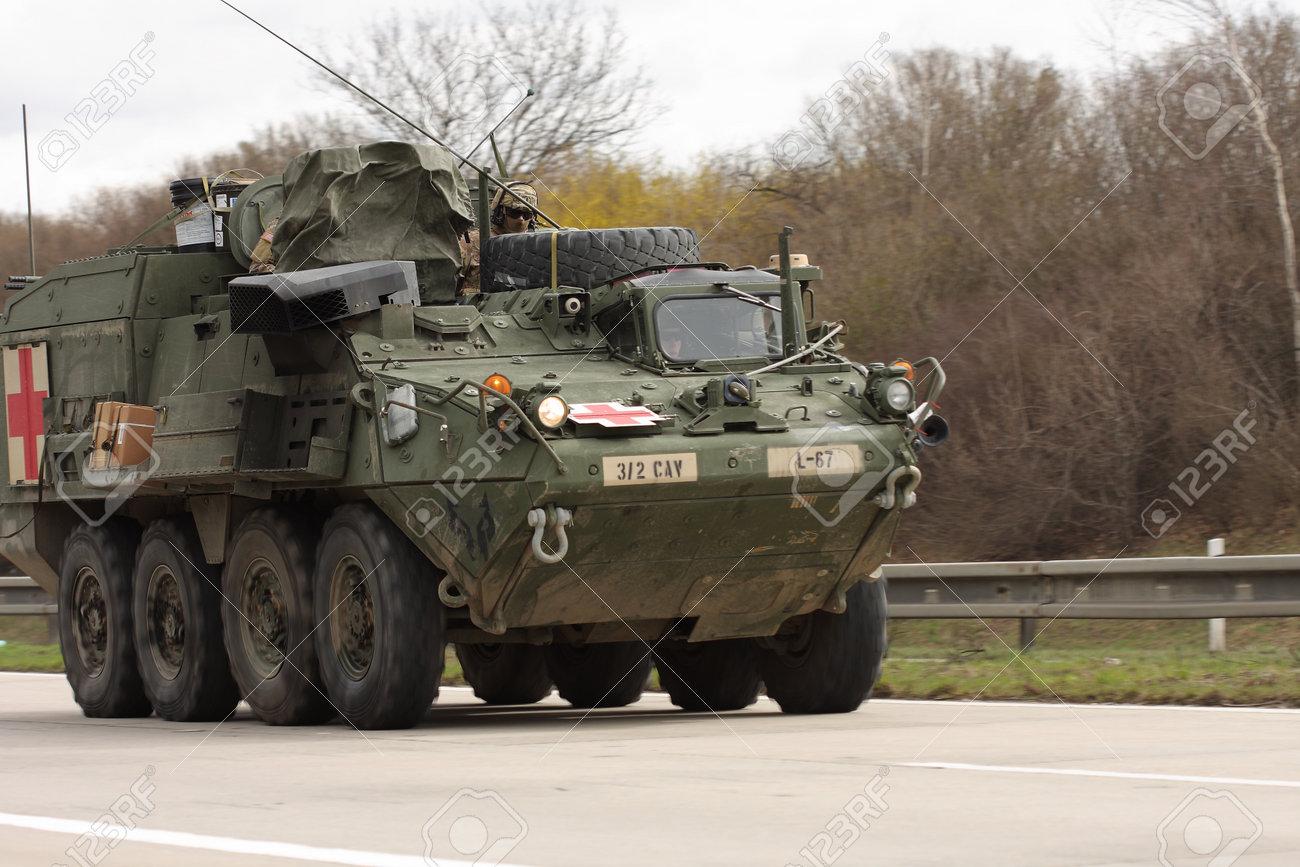 brnoczech republic march 30 2015dragoon ride us army convoy