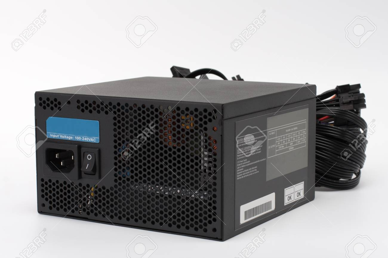Computer power supply unit, isolated on white background - 70829511