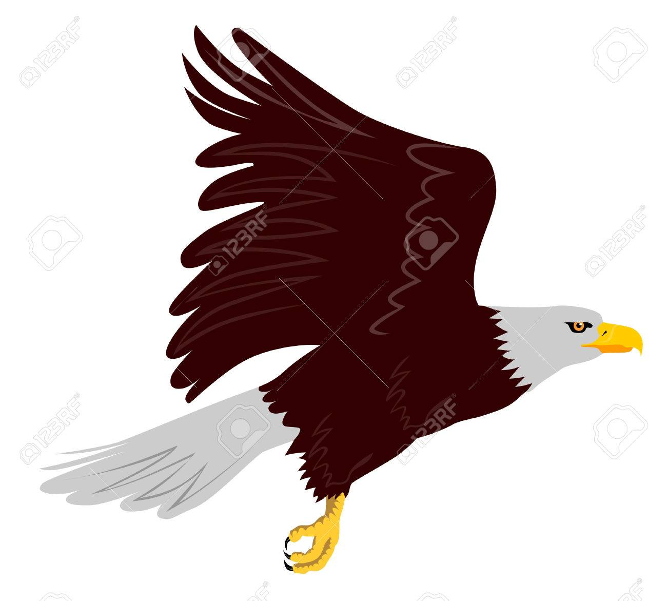 Eagle in flight wings up Stock Vector - 1391098