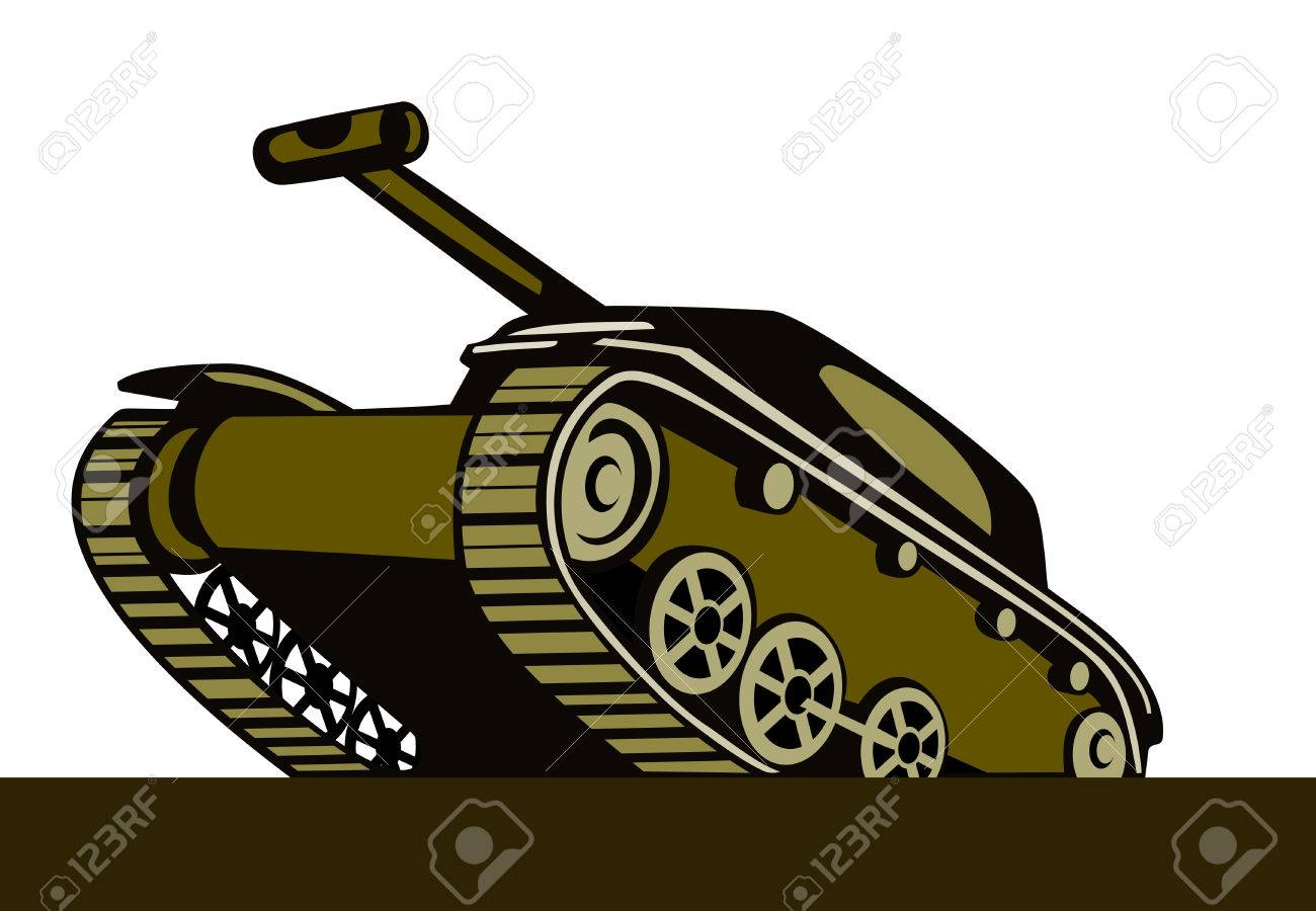 Battle tank Stock Vector - 1647351