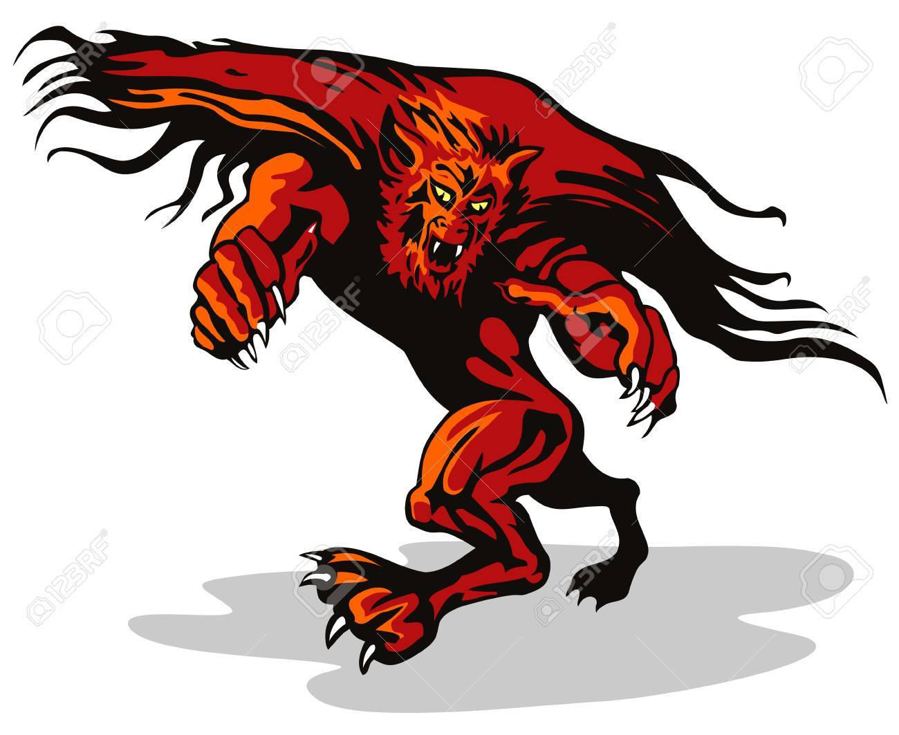 Werewolf monster cock cartoon girls