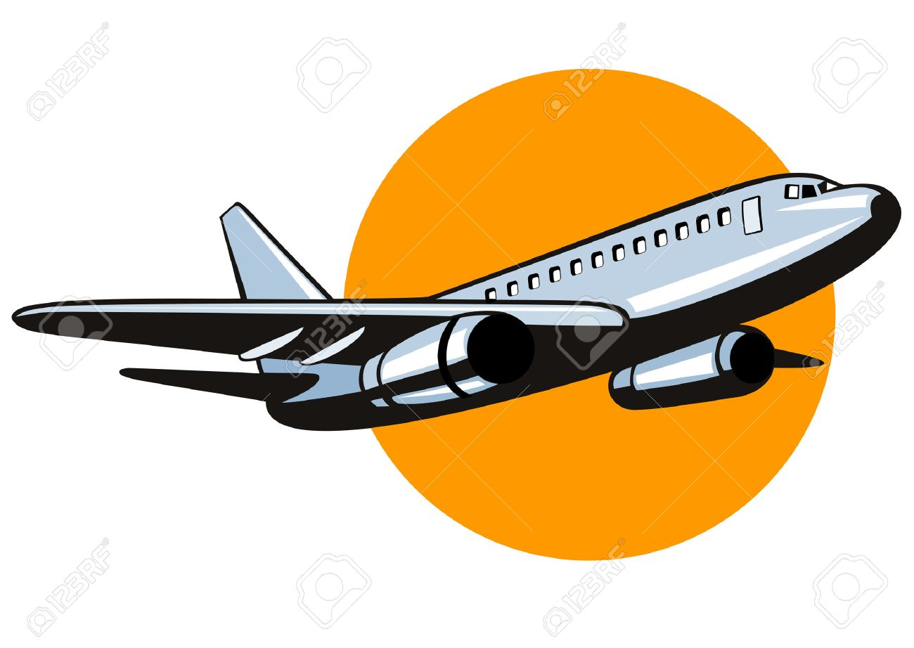 Jumbo jet plane taking off Stock Vector - 2732696