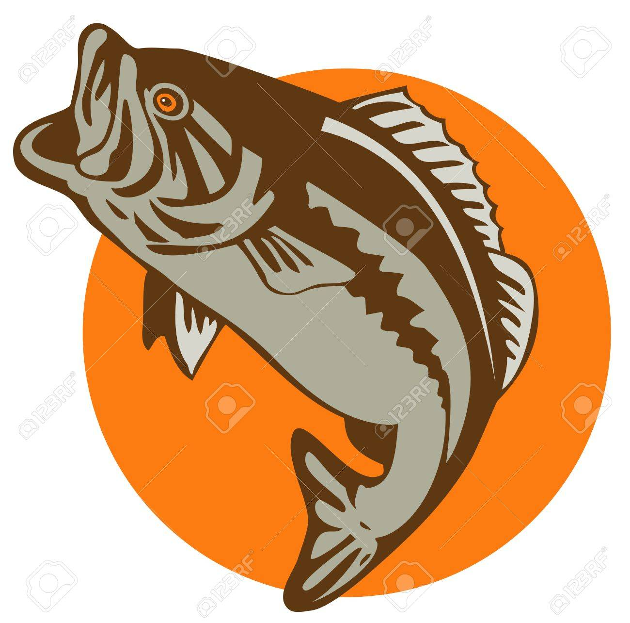 Bass jumping Stock Vector - 2853777