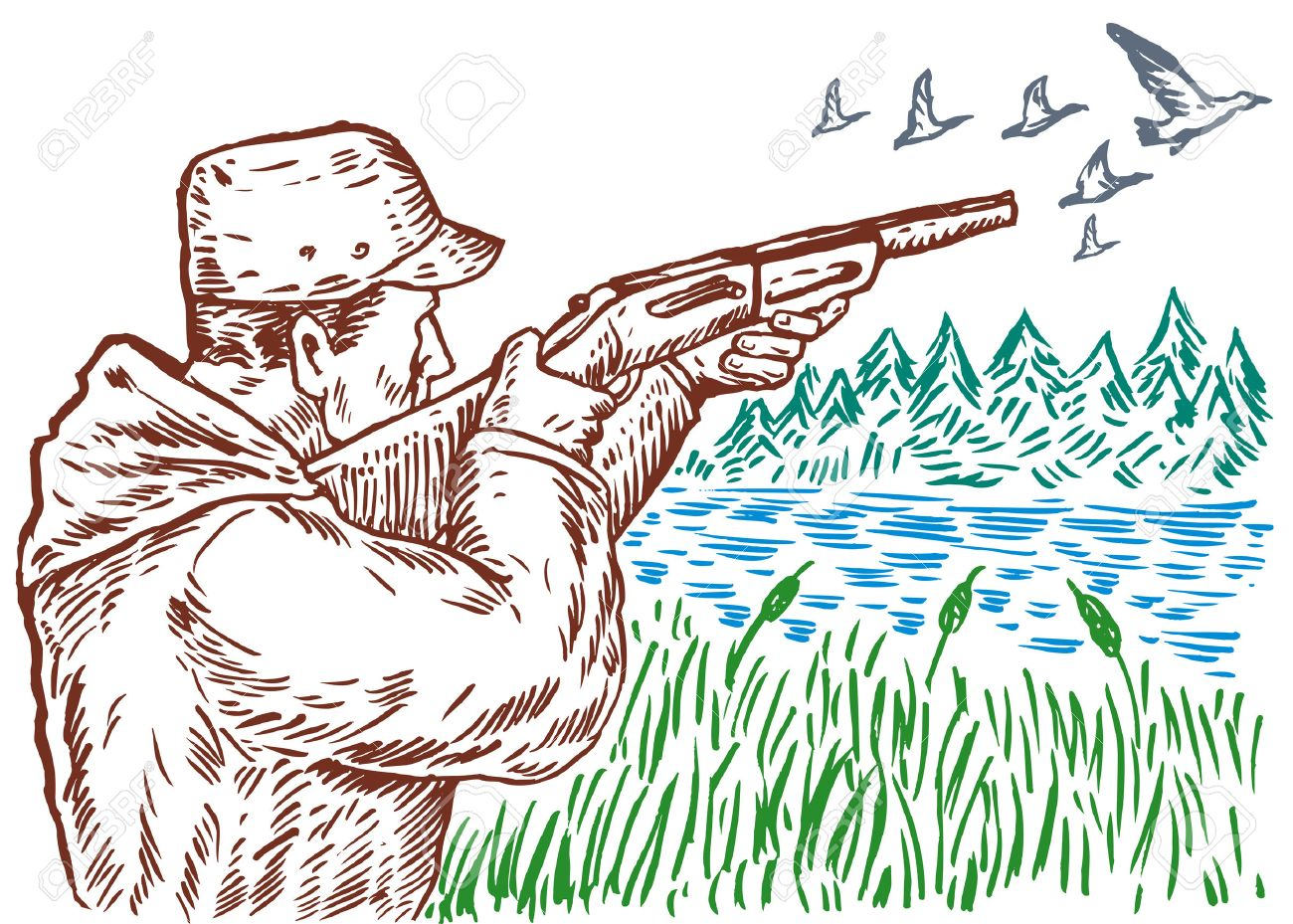 3 661 duck hunting stock illustrations cliparts and royalty free