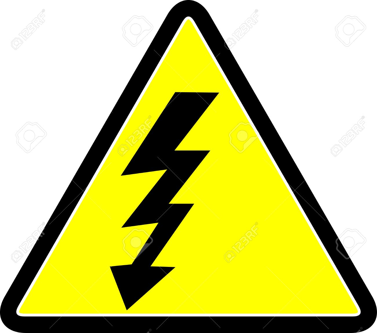Electricity Danger Symbol Stock Photo Picture And Royalty Free
