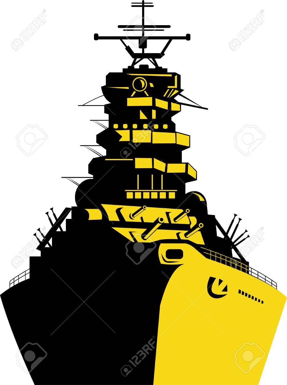 warship with big guns royalty free cliparts vectors and stock rh 123rf com battleship clip art free navy battleship clipart