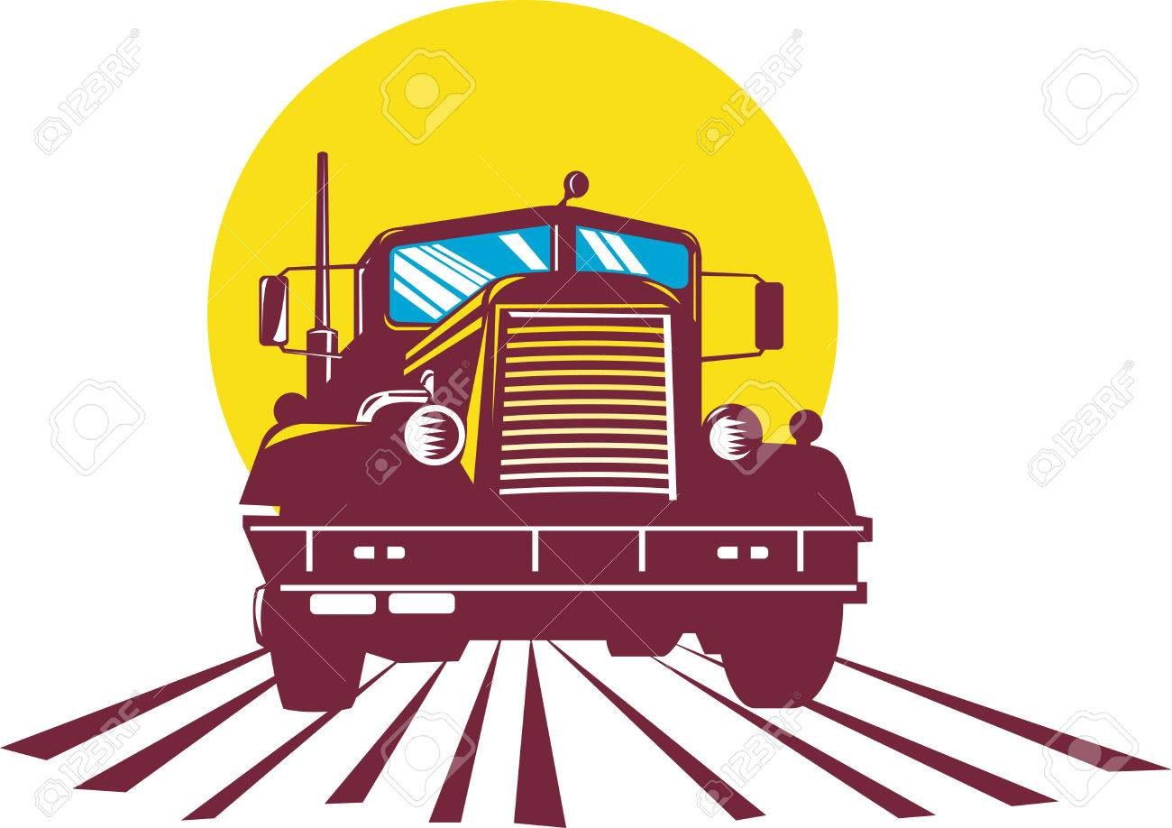 Truck front view Stock Vector - 4455916