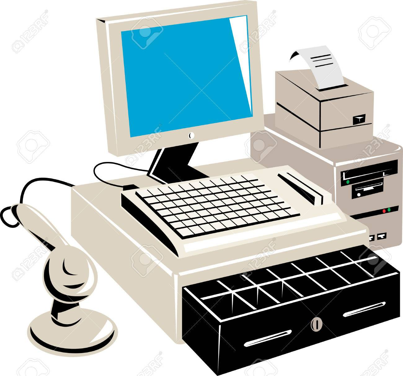 PC based retail point of sale system Stock Vector - 4519259