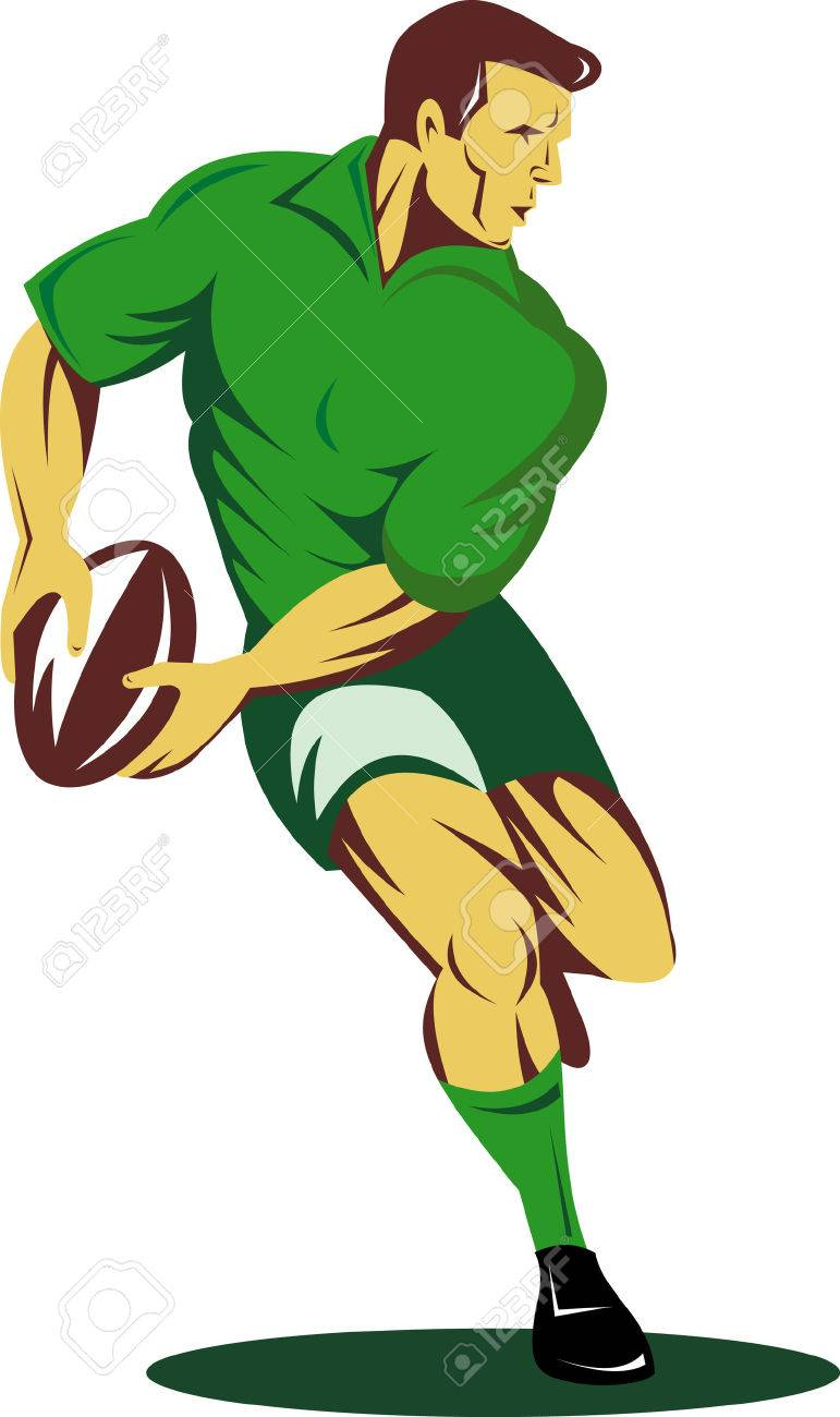 Rugby player running with the ball - 4808749