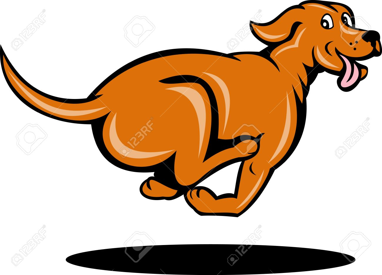 illustration of a dog running viewed from side stock photo picture rh 123rf com Running Cat Clip Art dog running image clipart