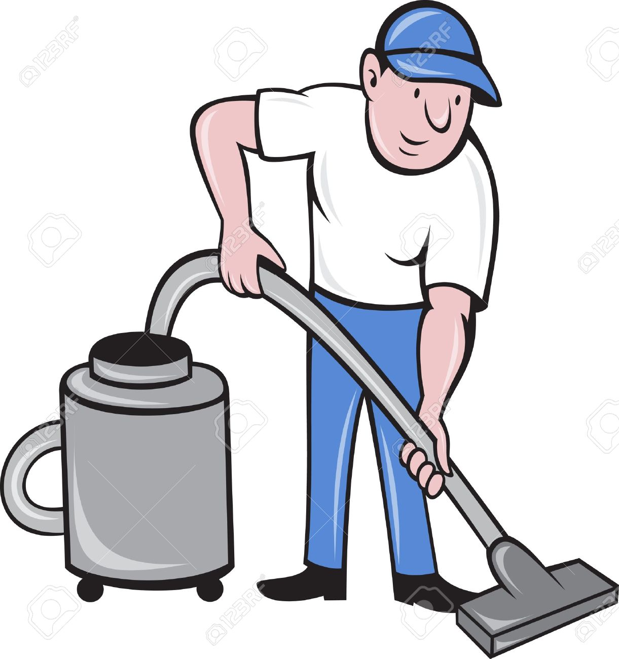 Vacuum cleaner clipart vacuum cleaner clip art - A Vacuum Cleaner Illustration Of A Male Cleaner Vacuuming With Vacuum Cleaning Isolated On White