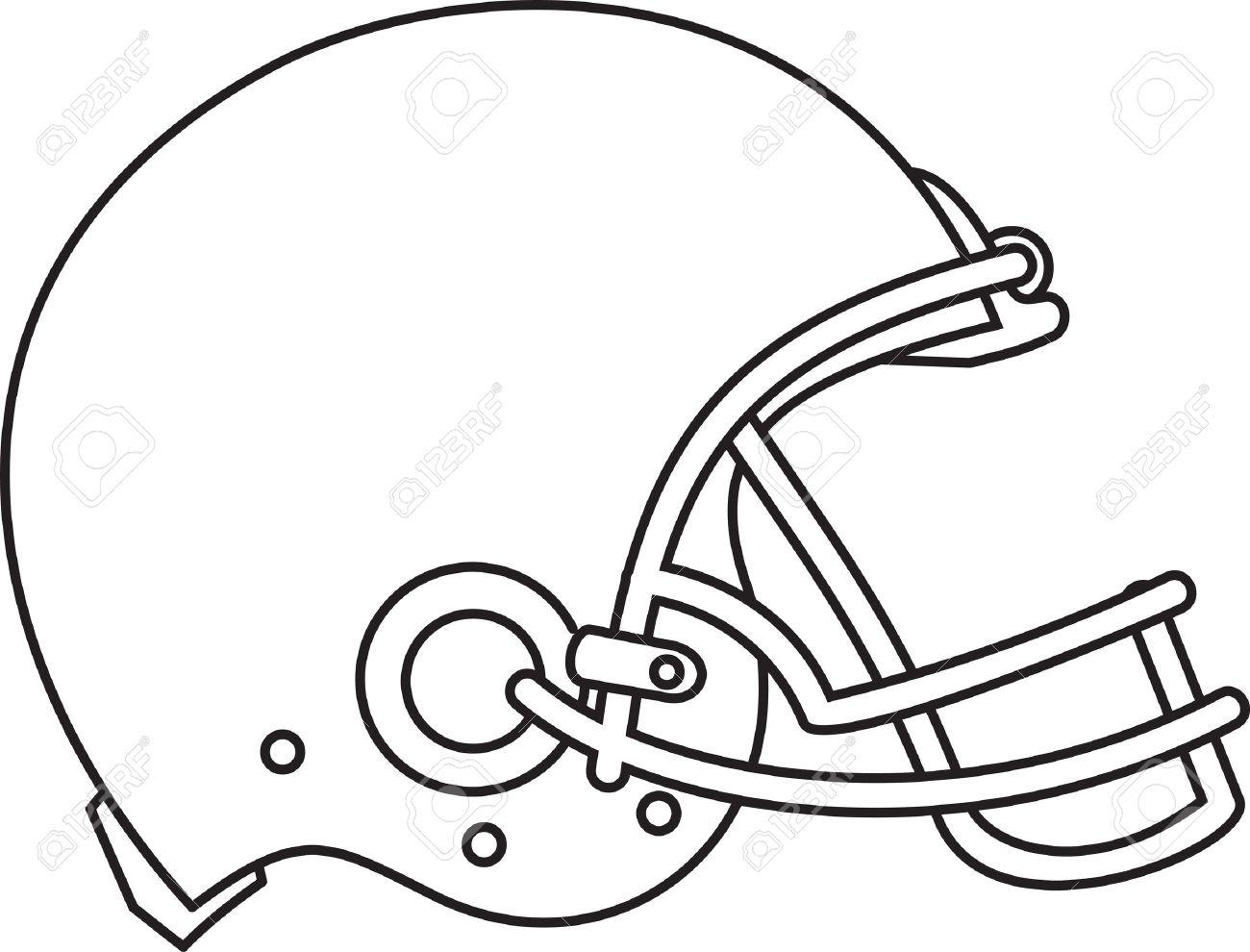 line drawing illustration of an american football helmet viewed rh 123rf com