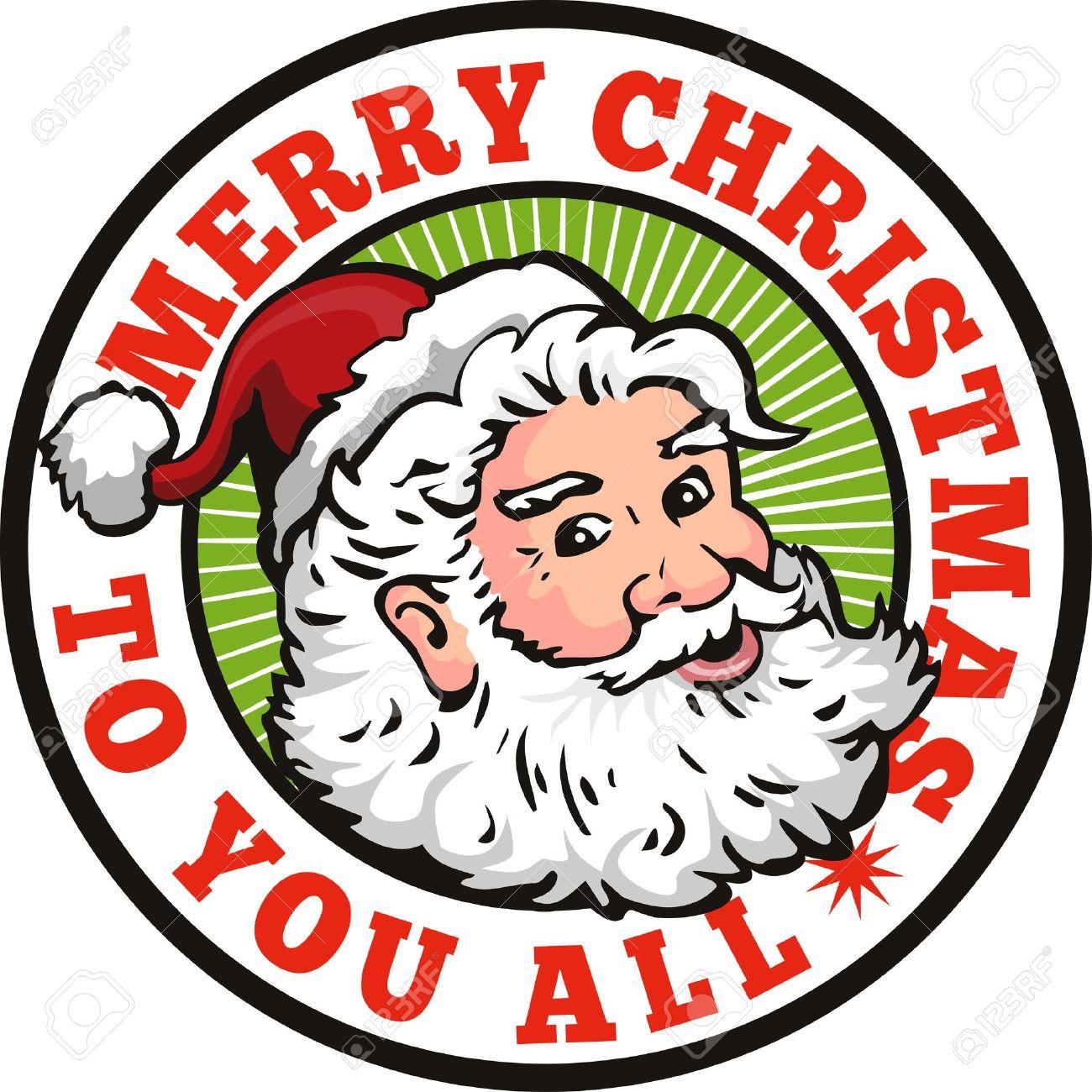 Retro Style Illustration Of Santa Claus Saint Nicholas Father ...