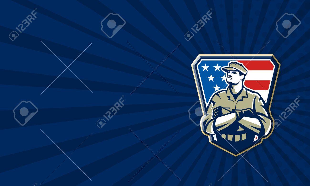 Carte De Visite Modle Illustration Dun Soldat Militaire