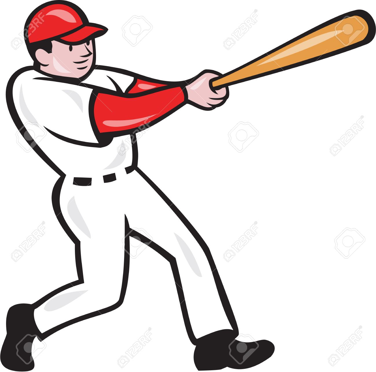 illustration of an american baseball player batter hitter batting rh 123rf com Baseball Clip Art Baseball Pitcher Clip Art