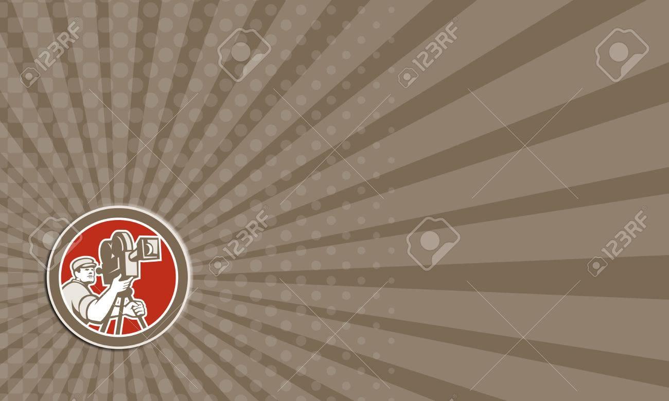 Carte De Visite Montrant Illustration Dun Directeur Film