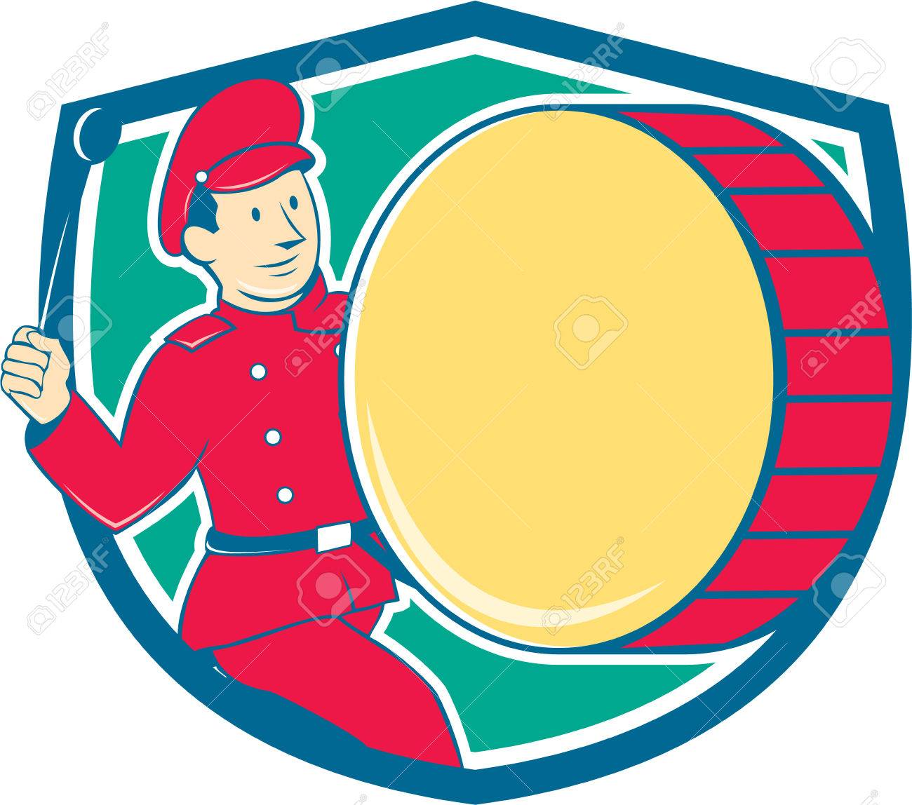 Cartoon Marching Band Marching Band Illustration