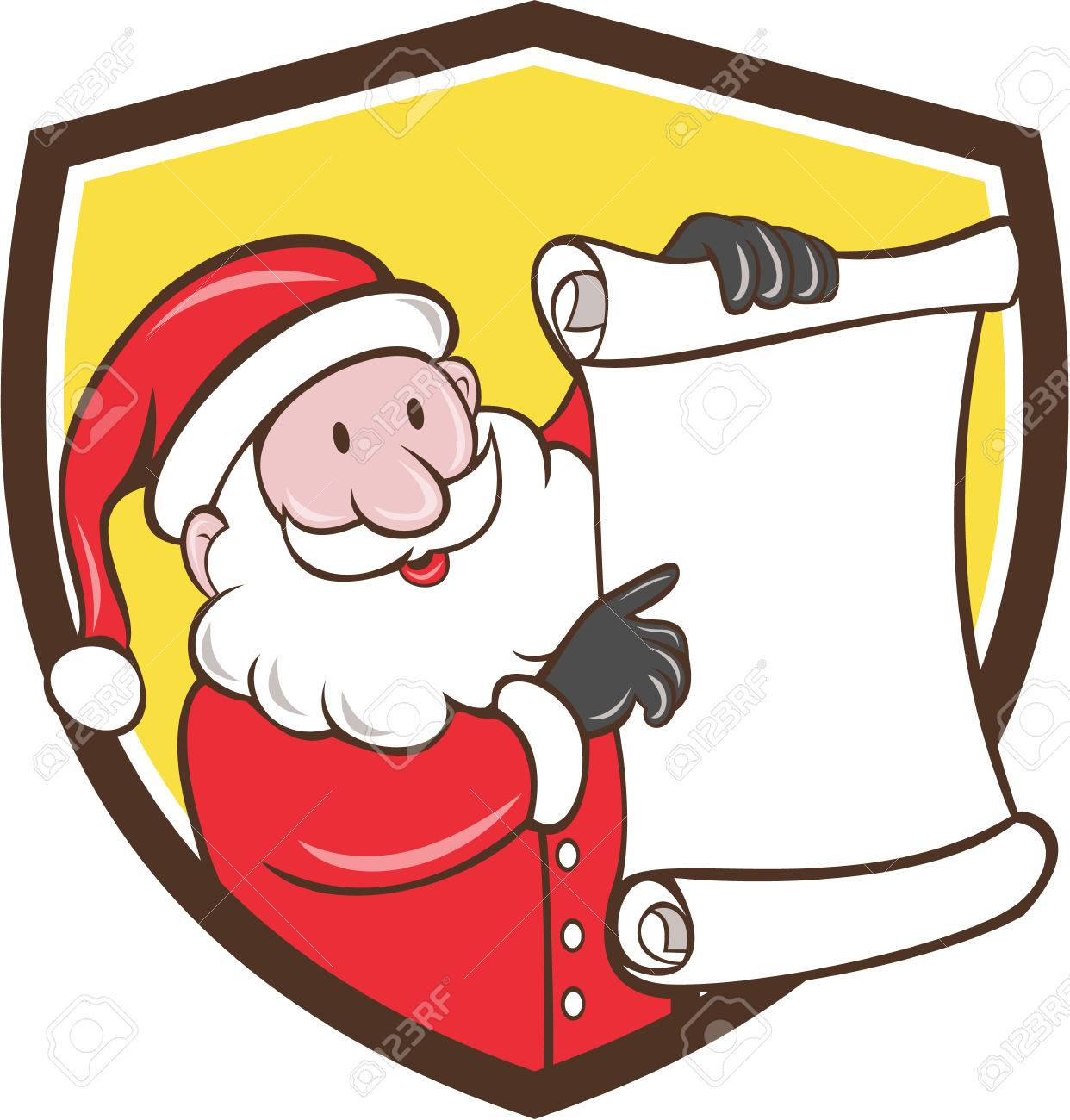 Illustration Of Santa Claus Saint Nicholas Father Christmas Smiling ...