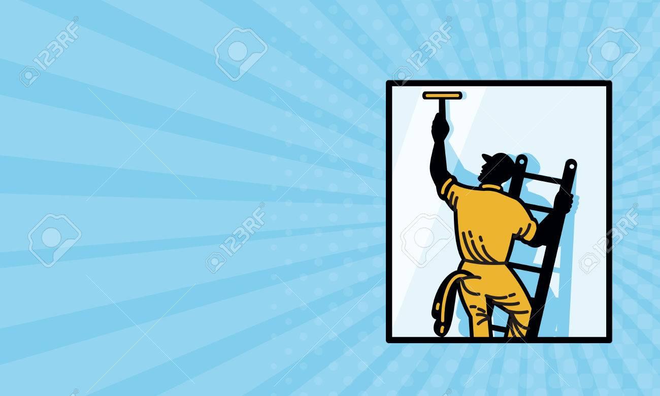 tarjeta de negocios que muestra la ilustración de un trabajador de