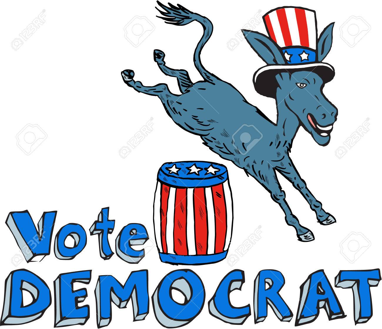 710 Democrat Donkey Stock Vector Illustration And Royalty Free ...