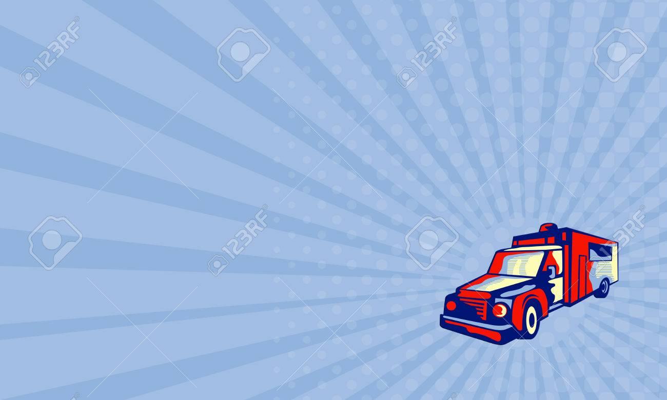 Carte De Visite Montrant Illustration Dun Vehicule Durgence D