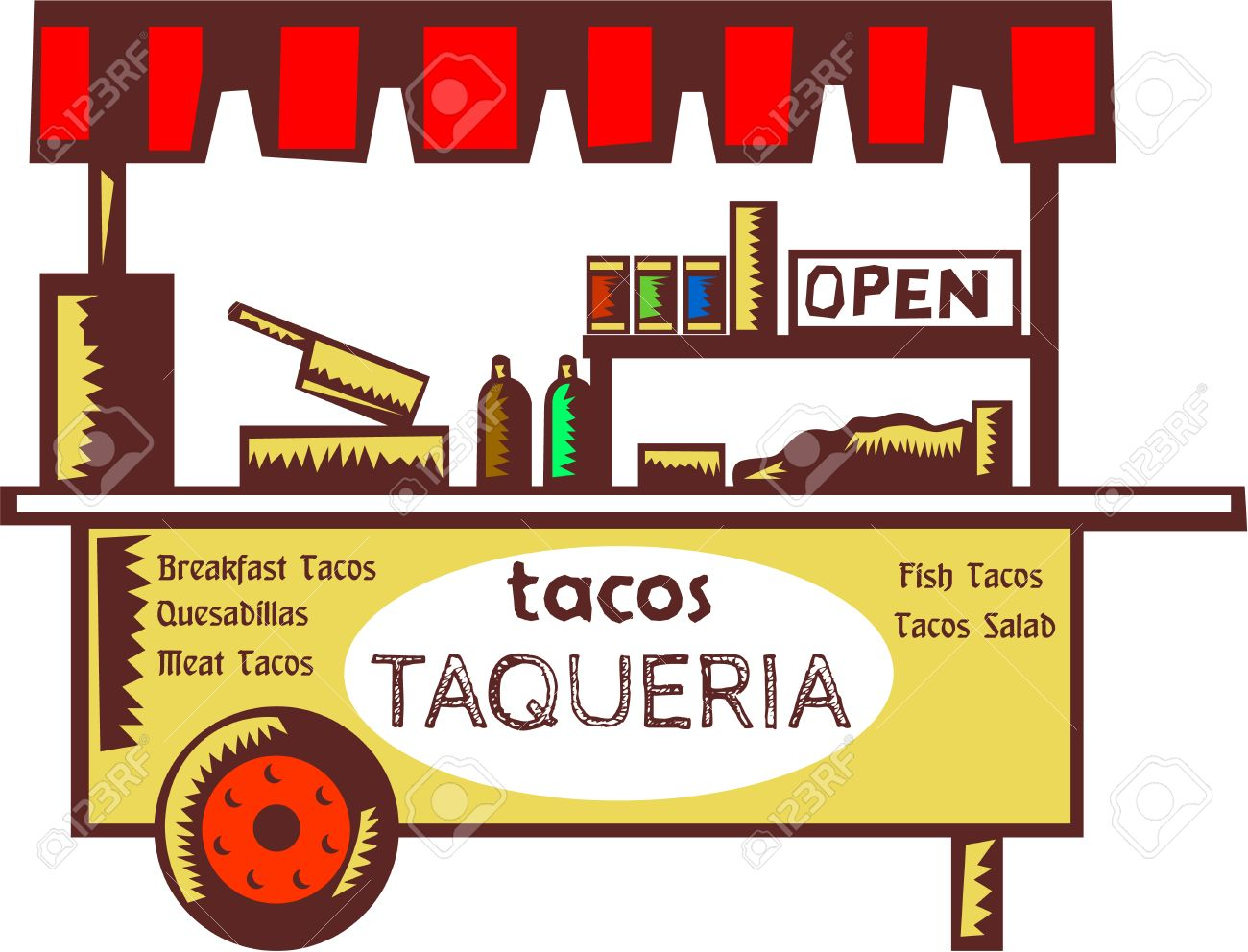1,015 Mexican Tacos Stock Vector Illustration And Royalty Free ...