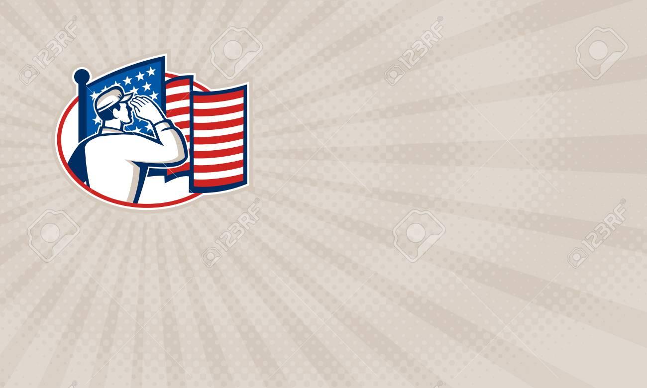 Carte De Visite Montrant Illustration Dun Soldat Americain