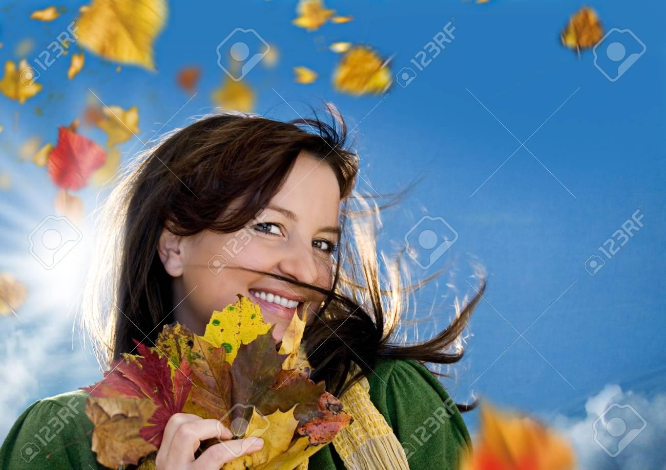 joyful autumn Stock Photo - 5305019