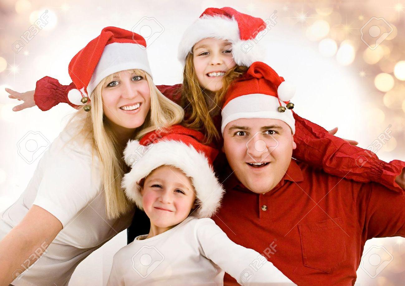 Christmas Family Photo Christmas Children Stock Photos Pictures Royalty Free Christmas