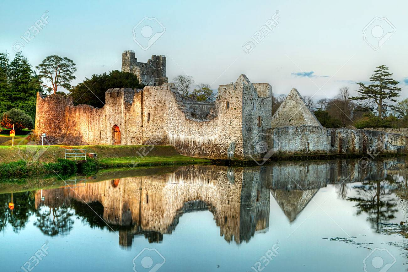 Ruins of the castle in Adare, Co. Limerick, Ireland Stock Photo - 59362589