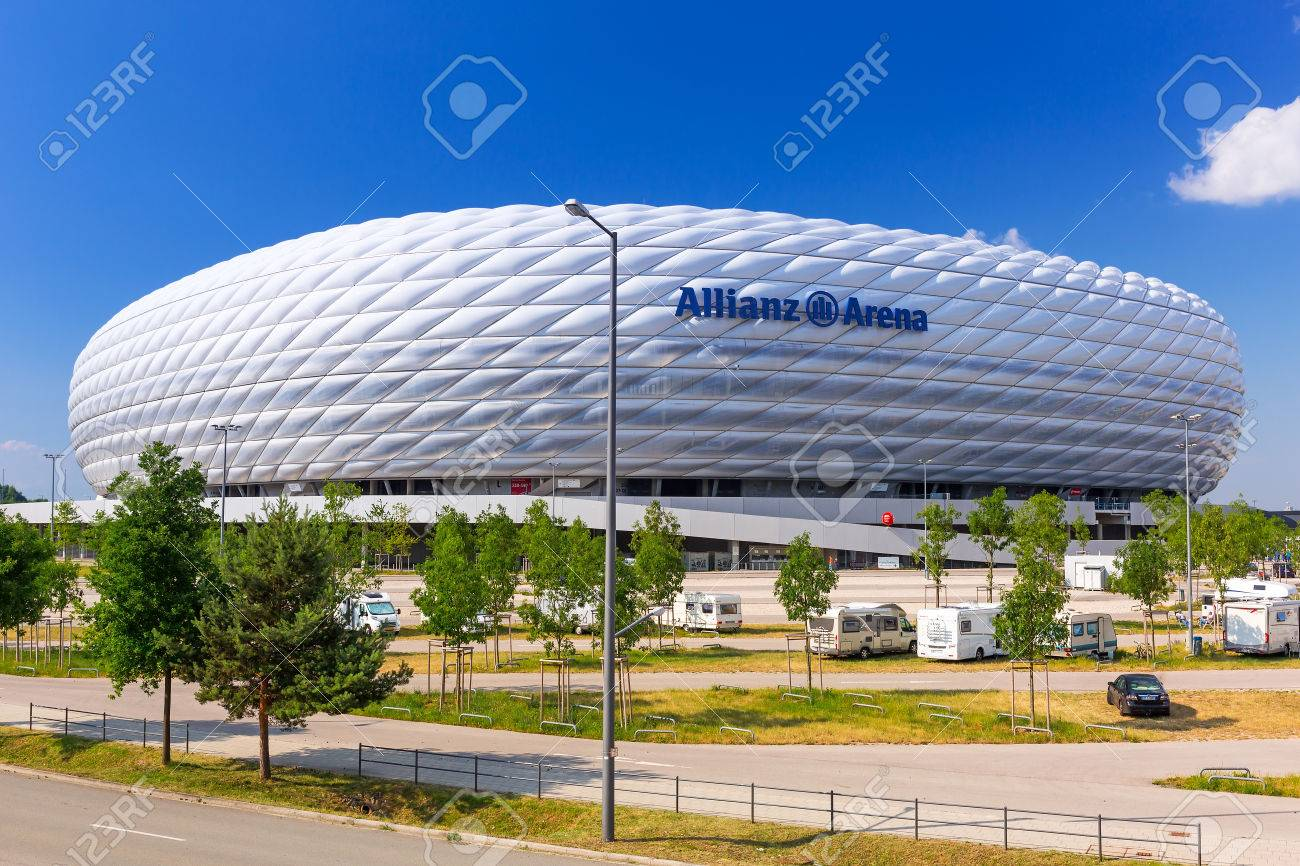 Allianz Arena stadium on a sunny day in Munich, Germany Stock Photo - 60279587