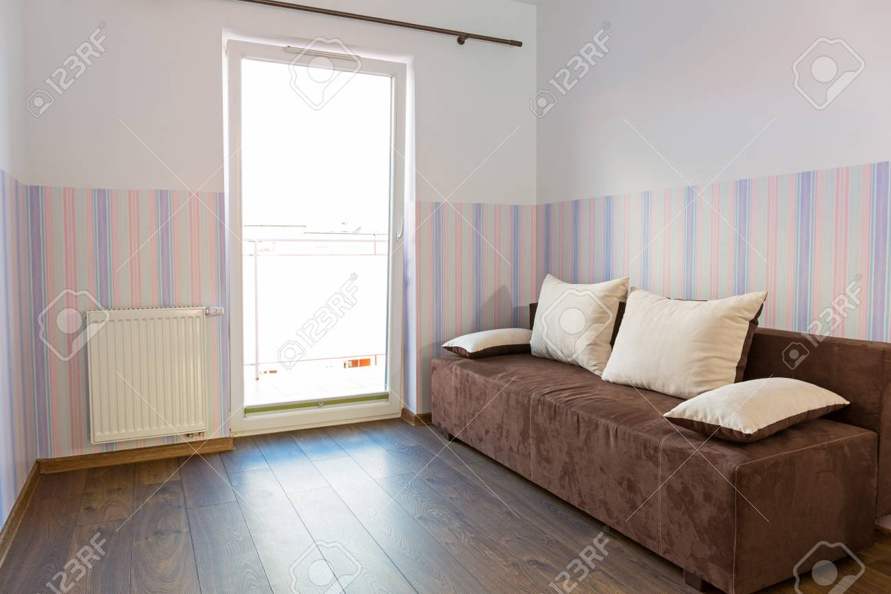 Bright Baby Room With Pastel Colour Wallpaper