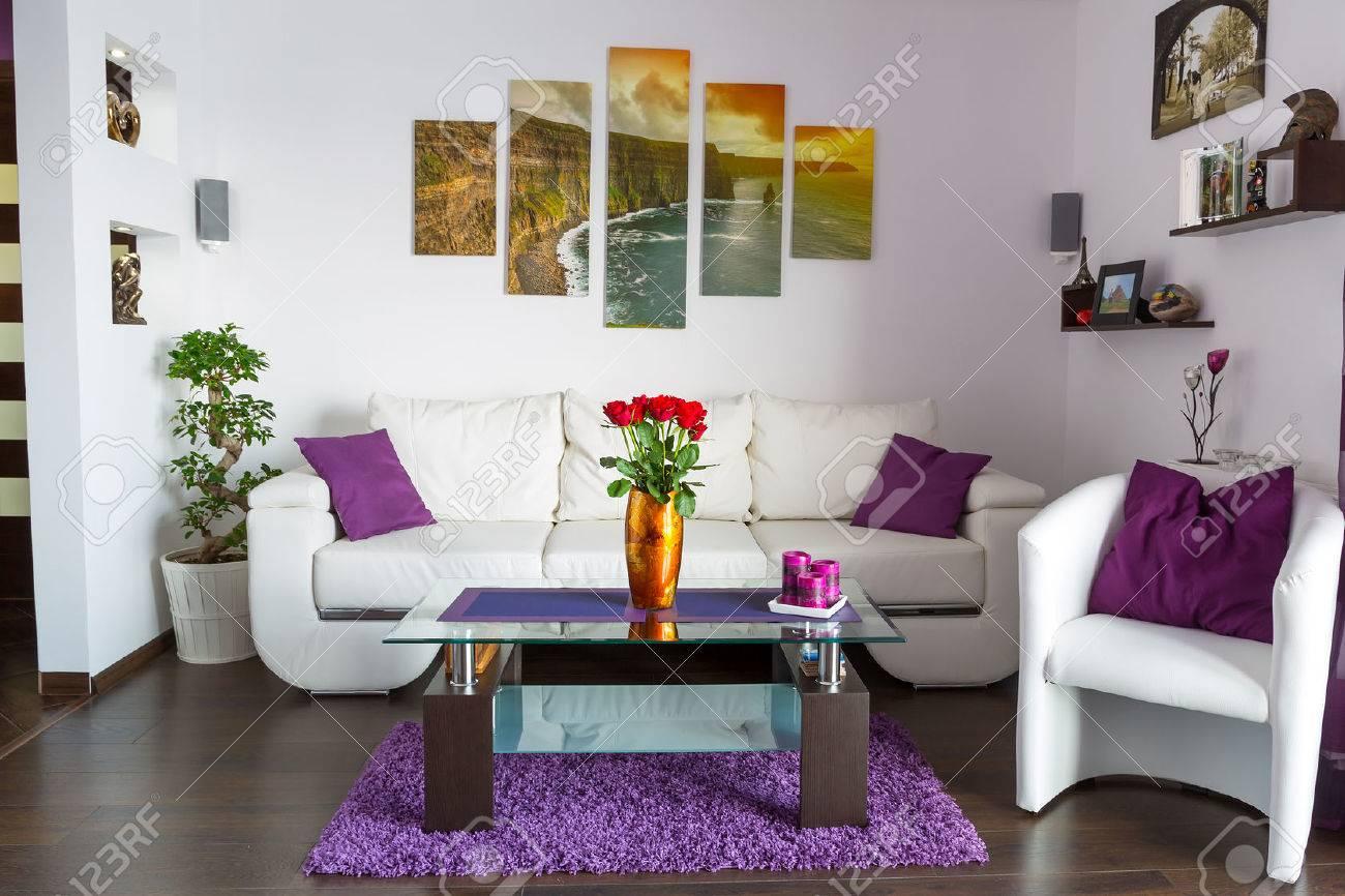 Modern living room interior Stock Photo - 55670695