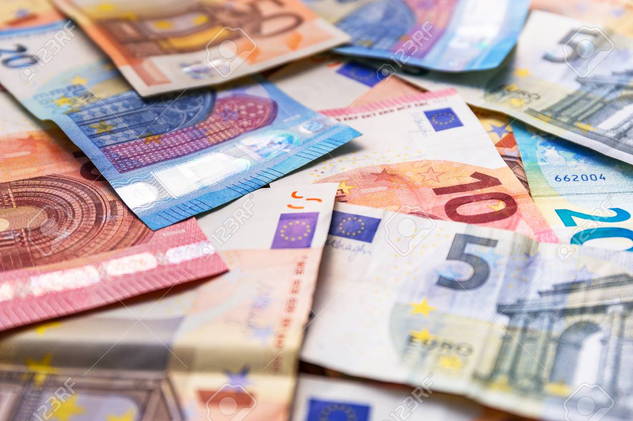 Euro money banknotes on the desk Stock Photo - 75224824