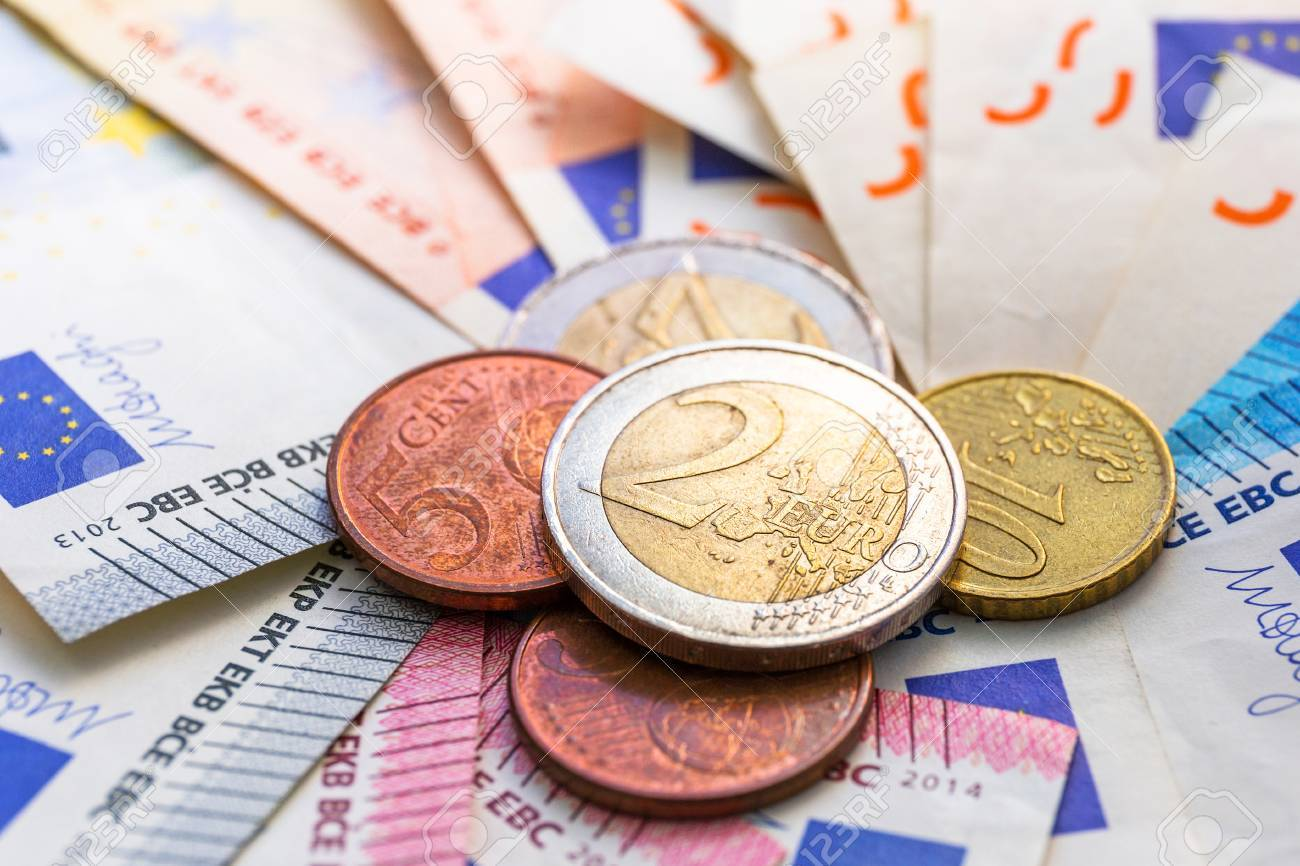 Euro money banknotes and coins Stock Photo - 75224873
